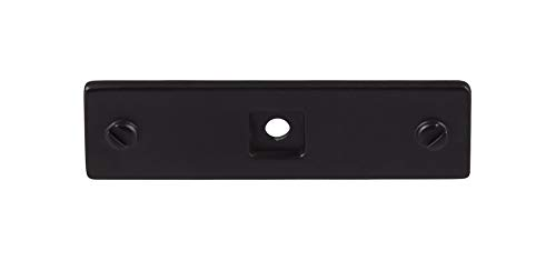 """Top Knobs TK741BLK Barrington Collection 3"""" Channing Backplate, Flat Black"""
