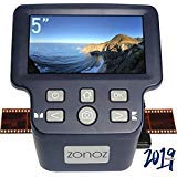 zonoz FS-Four Digital Film & Slide Scanner w/HDMI Output – Converts 35mm, 126, 110, Super 8 & 8mm Film Negatives & Slides to JPEG – Includes Large Bright 5-Inch LCD, Easy-Load Film Inserts Adapters
