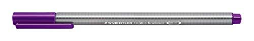 Staedtler Triplus Fineline 334–Superfine Tip 0.3mm Gris, Violet