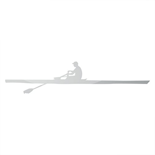 d9e06af0c4c5c8 Metallic Side View Row Sticker Rowing Sculling Crew Scull - Silver