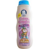 Gerber Grins & Giggles Baby Wash for Hair & Body - Milk & Honey 15 Fl. Oz.