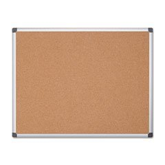 ** Value Cork Bulletin Board with Aluminum Frame, 48 x 72, Natural by Reg