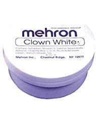 Maquillaje En Crema Color Blanco Para Pintura Facial Y Corporal - Uso Con Disfraces - Envase De 7 Onzas
