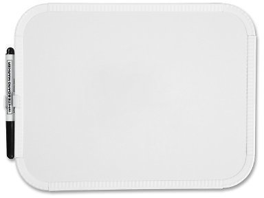 Sparco Marker Board, Melamine Surface, 8-1/2 x 11 Inches, White (SPR75620) SOLD AS A PACK OF 3 (Mini White Boards)