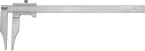 Workshop Caliper, 500mm/20'' 0,05mmx1/128'', stainless, hardened, chromed, DIN 862, read. mm/inch, w/o knife-points, w/o fine adjustment, in a wooden box