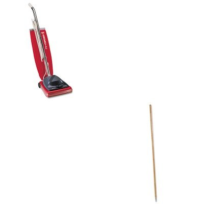 KITBWK138EUKSC684F - Value Kit - Boardwalk Metal Tip Threaded Hardwood Broom Handle (BWK138) and Commercial Vacuum Cleaner, 16quot; (EUKSC684F) by Boardwalk