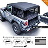 GPCA Cargo Cover LITE Compatible with Jeep Wrangler JL 2DR Sport Sahara Freedom Rubicon Unlimited 2018-2021 Model (JL…