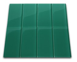 Emerald Glass Subway Tile 3 X 6 Sample Amazon Com