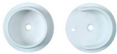 67 Closet Pole Socket Set, White, Plastic - Quantity 8 ()