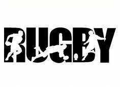 Rugby Sports Vinyl Decal Sticker|BLACK|Cars Trucks Vans SUV Laptops Wall Art|7.25