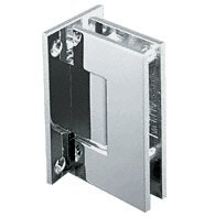 C.R. LAURENCE GEN037PN CRL Polished Nickel Geneva 037 Series Wall Mount Full Back Plate Standard Hinge