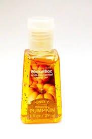 BATH and Body works hand gel sanitizer antibacterial 1 oz gel SWEET ORANGE PUMPKIN