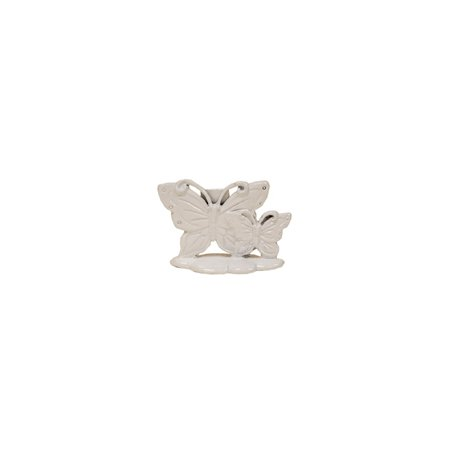 Pewter Place Card Holders (Butterfly White Place Card Holder Set of 12)