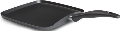 T-fal B36313 Specialty Nonstick Grilled Cheese Griddle Cookware, 10.25-Inch, Black