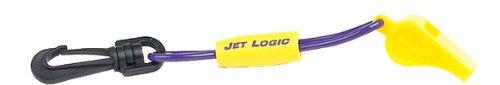Jacket Jets (Kwik Tek JET LOGIC W-1 Safety Whistle with Floating Lanyard, Purple/Yellow)