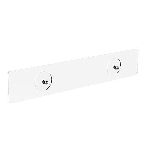 ODesign Transparent Adhesive for Corner Bathroom Shelf Aluminum [4 Pack]