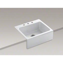 Kohler K-6573-3-0 Alcott Flush-mount Single-bowl Kitchen ...