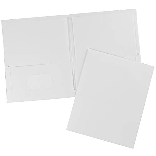 (Avery 47991 Two-Pocket Folder, 40-Sheet Capacity, White (Box of)