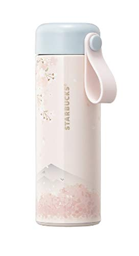 해외 한정 스타벅스 사쿠라 스트랩 스테인레스 텀블러 스타벅스 Starbucks Cherry Blossom Strap Tumbler 355ml   (Cherry Blossom)
