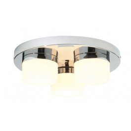 saxby lighting pure triple ip44 28w bathroom ceiling light chrome