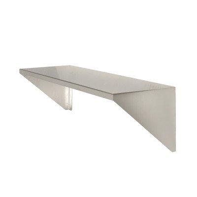PVIFS WS1224SS EZ Clean Solid Wall Mount Shelf, 24″ Length x 12″ Width x 12″ Height