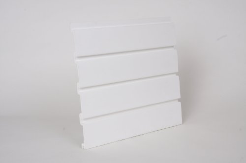 8 Pack White Handiwall 12 Inch x 4 Ft Slatwall Panels for Garage and Retail Storage by HandiWall