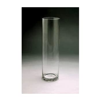 Amazon Wgv Clear Cylinder Glass Vase 5 By 18 Inch Home Kitchen