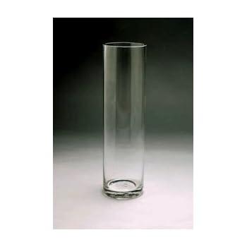 Amazon Wgv Clear Cylinder Glass Vase 26 Inch Home Kitchen