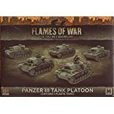 Flames of War: Mid War: German: Panzer III Tank Platoon (GBX105)