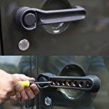 5pcs Door Aluminum Grab Handle Cover for Jeep 2007 – 2017 Jeep Wrangler JK 4 Door (Black)