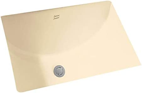 American Standard 0614.000.021 Studio Undercounter Bathroom Sink, Bone