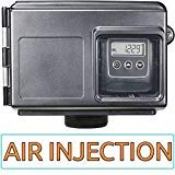 Air injection Silver AIS10-25SXT AFW Air Injection Iron, Sulfur, and Manganese Removal Oxidizing Water Filter, Almond Or Black ()