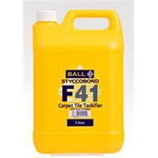 F BALL - F41 - Carpet Tile Tackifier (5ltr) by F - Online Uk Co Shopping