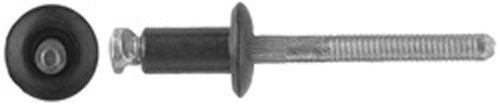 (Clipsandfasteners Inc 25 Black Outside Door Handle Rivets Compatible With Ford 388047-S102)