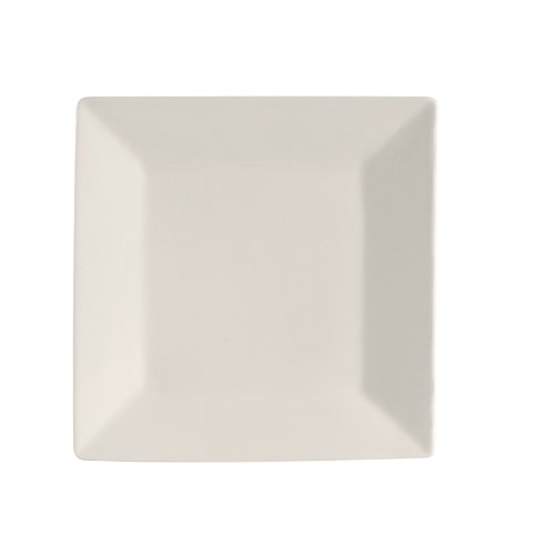 CAC China RE-SQ20 Square 11-Inch American White Stoneware Square Plate, Box of 12