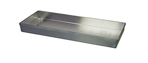 Winholt WHSSBX-830/1H Display Trays with No Drain Holes, Stainless Steel, 6'' x 30'' x 1'' Size by Winholt