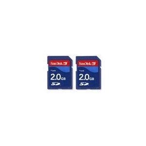 SanDisk 2-Pack 2GB SD Memory Kit