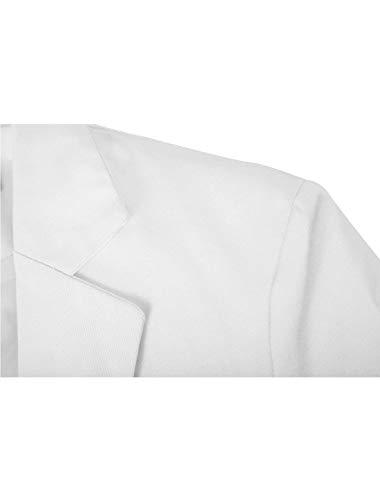 Bottone Bavero Per Primavera 2 Lunga Giacche Libero Comodo Battercake White Uomo Alla nbsp;giacca Tempo Size A Manica Da Moda Slim Giacca Fit Collo Suit Singolo color 44 Autunno Il FqvX6