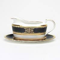 Noritake Evening Majesty 2-Piece Gravy Boat with Tray