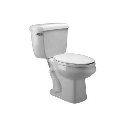 Dual Flush Round Front Toilet (Zurn Z5577 Dual Flush, Round Front Pressure Assist, 1.6/1.0 gpf, Two-Piece Toilet)