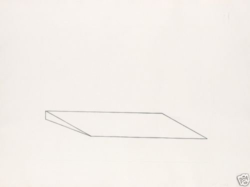 (DONALD JUDD NO. 81 - 1974 ORIGINAL ETCHING VERY SMALL ED. SIGNED & DESIG.)
