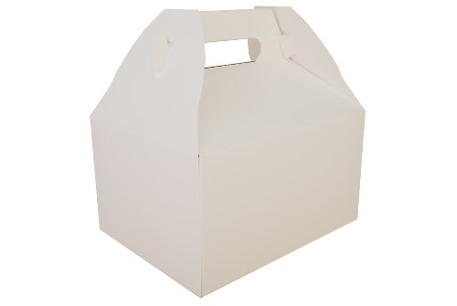 Southern Champion Tray 2715 Paperboard White Picnic Barn Style Carry Out Box, 9-1/16