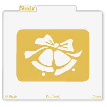 Sizzix Simple Impressions Embossing Folder - Wedding Bells - Sizzix Simple Impressions Folder