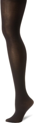 Hanes Silk Reflections Women's Hanes Matte Opaque Tights with Control Top, Black, Small (Black Control Top Tights compare prices)