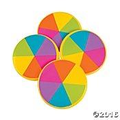 Rainbow Flying Discs (9