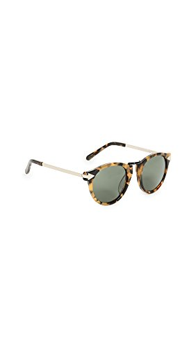 Karen Walker Women's Special Fit Helter Skelter Sunglasses, Crazy Tort/G15 Mono, One - Walker Frames Karen