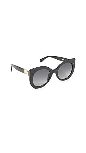 Fendi Women's Riveted Sunglasses, Black/Dark Grey, One - Fendi Black Sunglasses