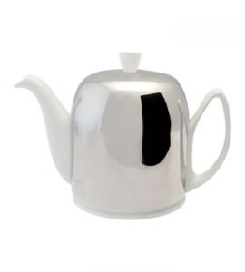 Salam White 8 Cup Teapot, by Guy Degrenne - 44oz.