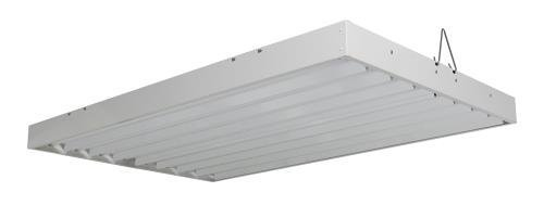 Solar Flare T5 Fluorescent - 4 ft. Fixture | 8 Lamp | 120V - Indoor Grow Light Fixture for Hydroponic and Greenhouse Use
