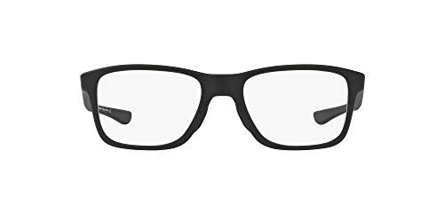 Oakley OX8107 Trim Plane Square Eyeglass Frames Non Polarized Prescription Eyewear, Satin Black/Demo Lens, 53 mm